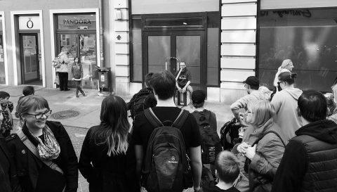 Straßenmusik in Halle