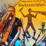 Philipp Gerisch - Live auf dem Swizzeridoo in Bern, Schweiz, 2018. (Foto: Shen Jin Song, Foto 1)